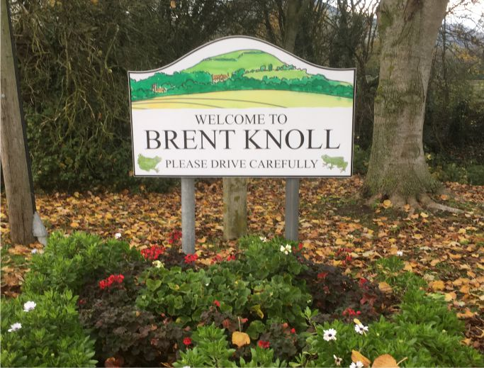 Brent Knoll Welcome Sign