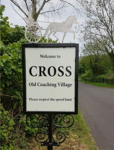 Cross Welcome Sign