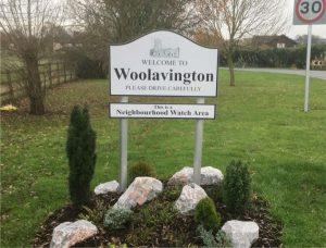 Woolavington Welcome Sign