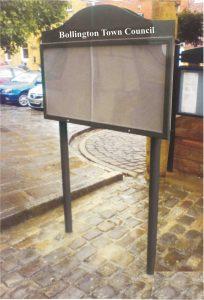 Bollington Town Council Black Curved Top