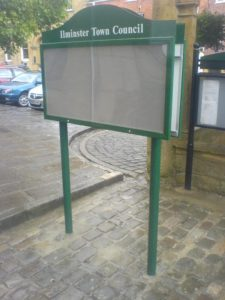 Ilminster town council double sided case