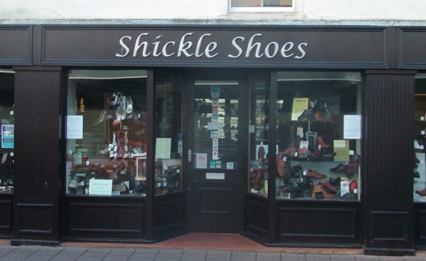 Shickle Shoes Moulded Letters
