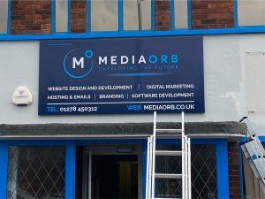 Media Orb new sign